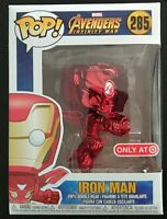 IN HAND TARGET EXCLUSIVE FUNKO POP! INFINITY WAR - RED CHROME IRON MAN #285