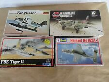 lot of 4 vintage model airfix revell lindberg mpc 1/72 model kit