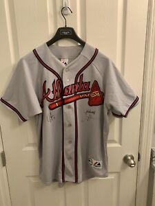 Majestic Genuine Merchandise Signed Atlanta Braves Jersey NWT Size L