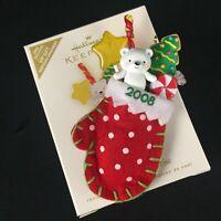 Hallmark Christmas Ornament 2008 A Christmas Surprise Mitten Stocking Stuffed