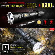 Klarus XT12GT 1600LM Cree XHP35 HI D4 Magnetic Charging IPX-8 LED Flashlight