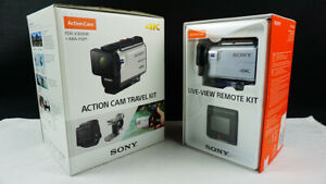 Sony FDR-X3000R 4K Action Cam + View Remote + FINGER GRIP +2 Extra batteries