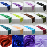 """12"""" x 108"""" Satin Table Runner Wedding Venue Decorations Wedding Party 21 Colors"""