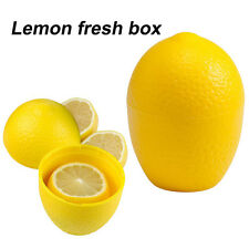 Useful Reusable Lemon Keeper Plastic See Through Fresh Storage Container Saver