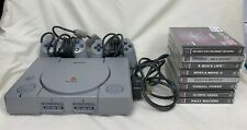 Sony Playstation 1 PS1 Console Bundle Includes 2 Controllers & 8 Games #612
