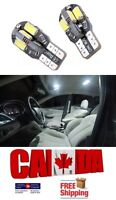 2PCS 8SMD 3W White 6000k T10 194 168 LED No Error Canbus Map Dome Light Bulb
