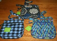 Vera Bradley PETITE DOUBLE ZIP HIPSTER crossbody little purse shoulder bag