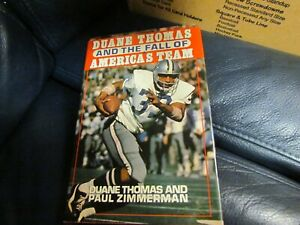 Duane Thomas and the Fall of America's Team Signed Book  Paul Zimmerman JSA AUC