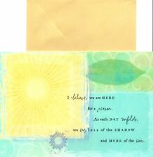 Sunshine & Nature Theme Encouragement Blank Inside Note Cards - Set of 10