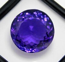 Natural Amethyst Loose Gemstone Round Shape 63 Ct Certified Gemstone
