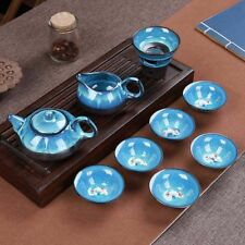 Zisha 3D  Koi Fish Kung Fu Matcha Tea Ceremony Cup Teapot Set 10pcs