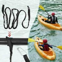 Inflatable Boat Canoe Kayak Paddle Bungee Shock Cord Hook Tie Down Rope Fishing Rod Lanyard Paddle Leash Surfing Tether Holder