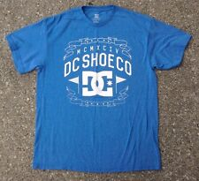 DC Skating Shoe Co Blue Shirt ~ Men's Large L ~ SS Skate Co.