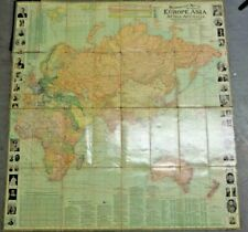 Scarborough's Map of the World - Double Sided 1907