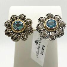 New! Andrea Candela Lucero 18k Gold Sterling Silver Earrings (6791)