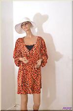 Tunique orange a motifs FORTESS   grande Taille 50/52 ref 071776