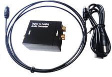Digital Koaxial RCA Toslink Optic Signal Analog Audio Konverter Adapter für BOX
