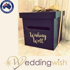 Navy Blue Wishing Well - Personalised Card Box Gold, Rose Gold, Silver
