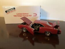"New Listing""Red/Black"" 1968 Dodge Charger R/T 440/375 Limited Edition Danbury Mint 1:24"