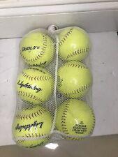 Lot of 6 New Softballs Dudley Lightning 12 Yellow