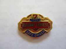 vintage Roadway Express 7yr Trucker Trucking Safety Award Safe Driving Pin