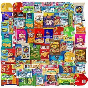 Blue Ribbon Care Package 90 Count Ultimate Sampler Mixed Bars, Cookies, Chips