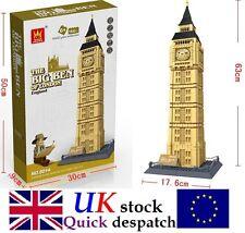 BIG BEN CITY OF LONDON ARCHITECTURE BUILDING Compatible Building Bricks 1642Pcs