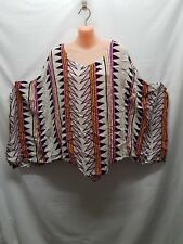 GEISHA GIRL BLRIGHT COLOURED SUMMER CASUAL PONCHO TOP  SIZE M