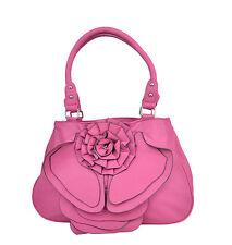 Edle Retro ROSES Pin Up Rosenblüten HANDTASCHE / Bag - Pink Rockabilly