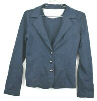 Maurices Women's Medium Blue Button Up Blazer Style Career Casual Jacket