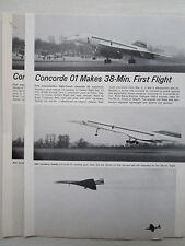 1/1972 MINI ARTICLE 3 PHOTOS CONCORDE 01 38 MIN FIRST FLIGHT FILTON TRUBSHAW