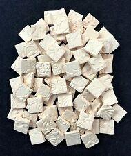 """DIY Ceramic Mosaic Tile Squares -3/4"""" BISQUE"""