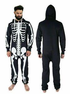 Men's  Halloween  Skeleton Print 1ONESIE All in One Jumpsuit S,M,L,XL,2XL