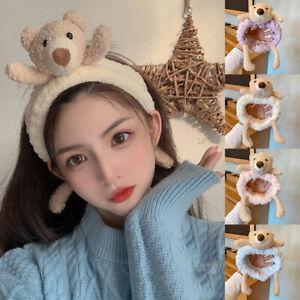 Cute Bear Striped Soft Hair Band Head Wrap Headband Bath Spa Head Hoop Make Up