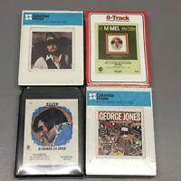 4 NEW SEALED 8-TRACKS NOS Elvis Presley Johnny Paycheck George Jones Mel Tillis