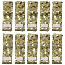 100 Pieces Of Rhinestone Napkin Ring Napkin Holder Nylon Sticker Table Deco X1X2