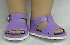 NIP-light blue sandals for  American Girl, Bitty Baby dolls