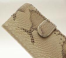 Luxury BEIGE Faux Leather Snake Skin Wallet Holder Case For SAMSUNG GALAXY S4