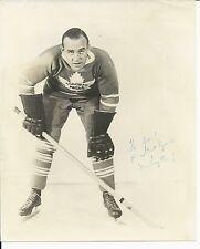 Autographed King Clancy (Dec 1986)  Toronto Maple Leafs  8x10 Photo - JSA Letter