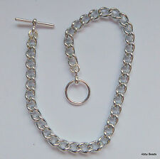 """Charm bracelet 8"""" Silver tone x 50 with toggle clasp. Non tarnish."""