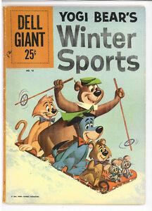 Yogi Bear's Winter Sports / Dell Giant #41, Dell 1961 Hanna-Barbera VG