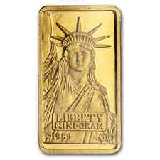GOLD ~1~GRAM PURE .999~STATUE of LIBERTY GOLD BAR ~SEALED~ CREDIT SUISSE ~$68.88