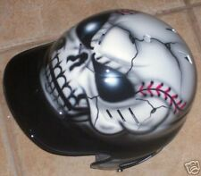 AIRBRUSHED SKULL BASEBALL BATTING HELMET NEW W/NAME