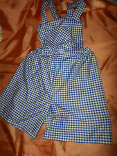 ADULT BABY SISSY BLUE GINGHAM ROMPER DUNGAREE SUIT  BIB TOP 30-45  WAIST