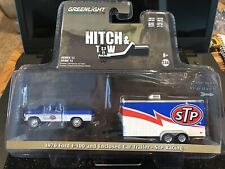 Greenlight ~Hitch & Tow~STP Racing~1970 Ford F-100 & Enclosed Car Trailer