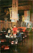 Chinese Restaurant Interior Dallas Texas Postcard Macao Tichnor 7320