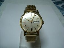 OMEGA 1020 MENS AUTOMATIC WATCH DAY DATE Quick Set Speidel Band 1970's GC Runs