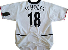 shirt Scholes manchester united jersey 2002 2003 AWAY PLAYER ISSUE rare worn L