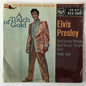 """ELVIS PRESLEY EP - 1959 - """"A TOUCH OF GOLD"""" - RCA - RCX1045 - *EX/VG*"""