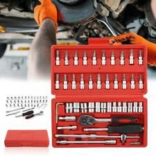 Outils Coffret Kit de 46pièces Clé à cliquet et douilles Couplage rapide NEUF FR
